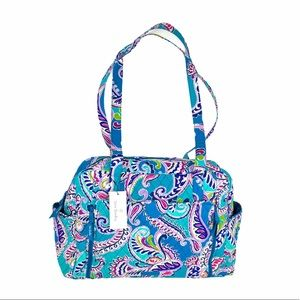 Vera Bradley Baby Bag Waikiki Paisley Blue, Purple